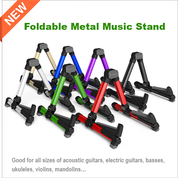 NEW Foldable Metal Stand Music Stand Guitars, Violins, basses, ukuleles stand (AGS-08)