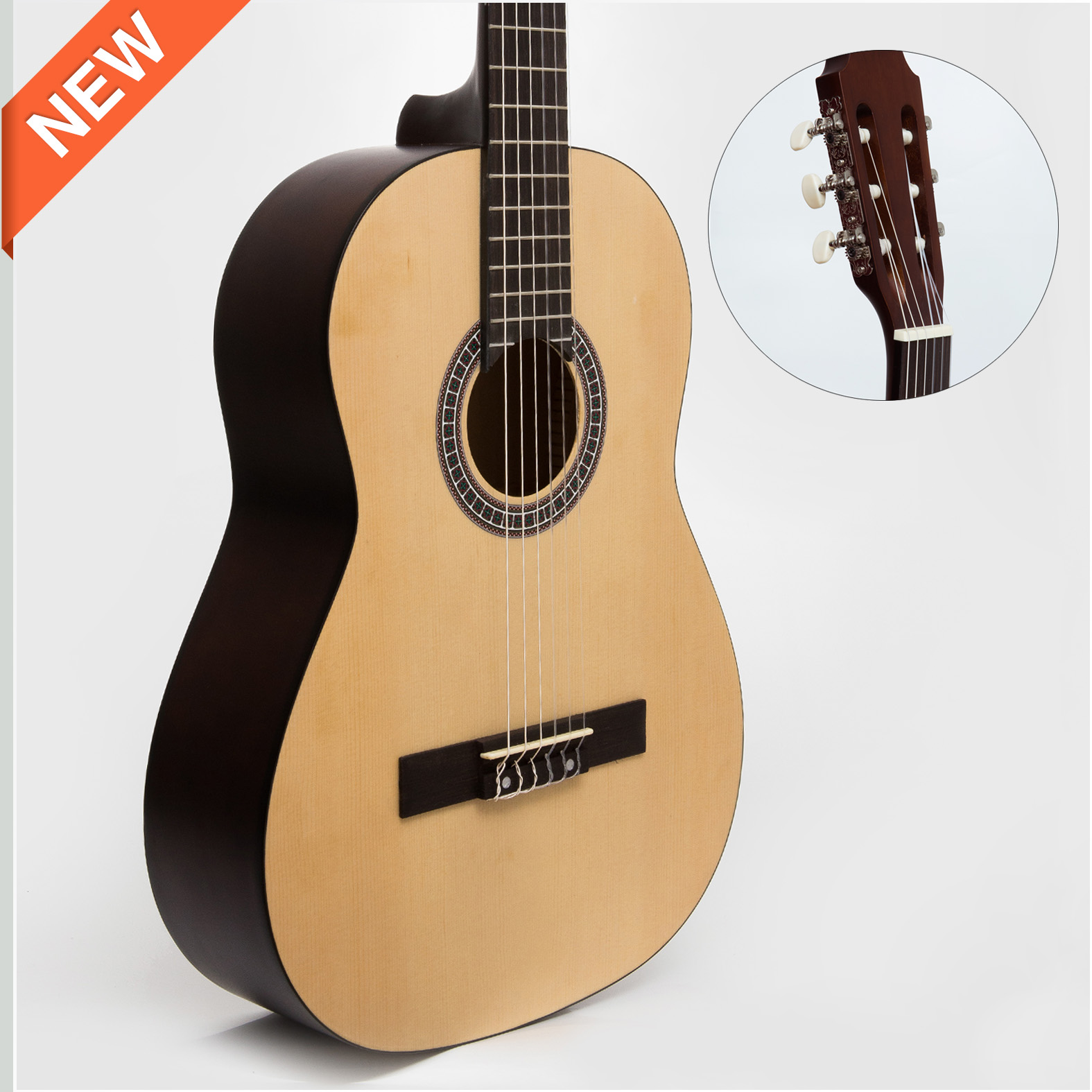 Spruce Top Linder Back&Side Classic Guitar (CG965)